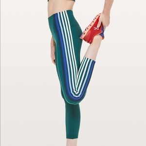 """Lululemon """"take a hint"""" 7/8 tight in royal emerald"""